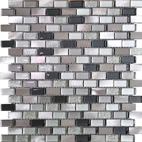 Tramonti Silver Brick 30cm x 30cm Mosaic Sheet