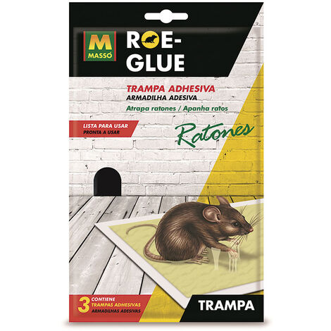 TRAMPA ADHES. RATONES ROE-GLUE (3 UDS.)