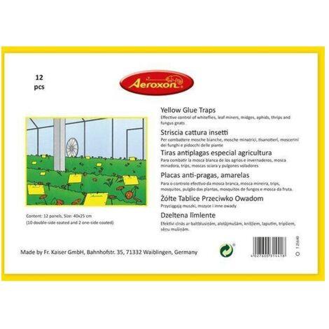 Trampa adhesiva para insectos AEROXON (Pack 12 Uds)