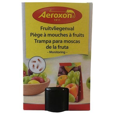 Trampa de cola para moscas de la fruta AEROXON - Incluye Frasco 40 ml de atrayente natural