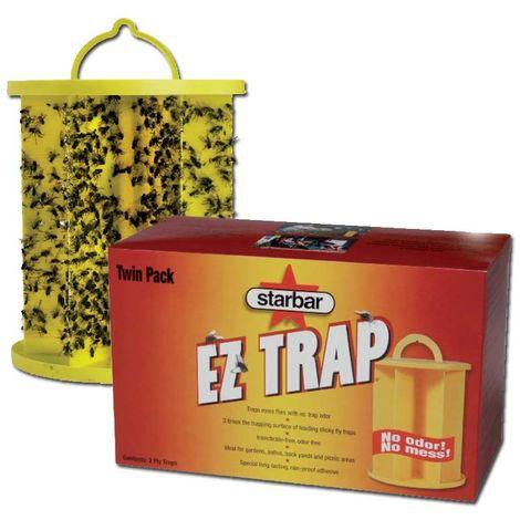 Trampa EZ Trap Adhesivo para insectos voladores paquete de dos piezas