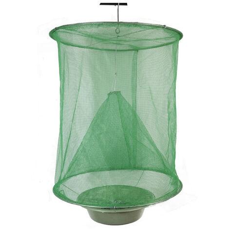 Trampa para moscas colgante reutilizable, atrapamoscas de granja, red para trampa de insectos tipo jaula plegable para mosquitos