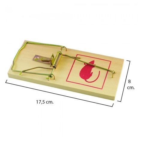 Trampa Ratas Madera 17,5 X 8 Cm.