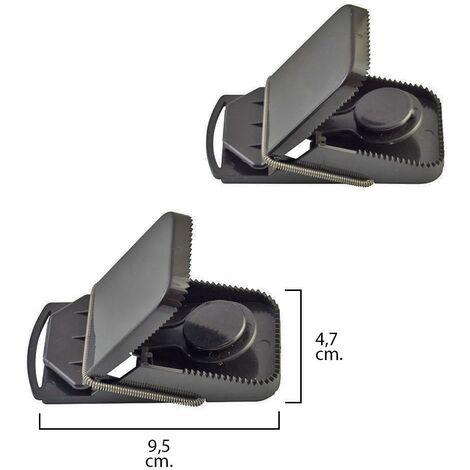 Trampa ratones plastico 9.5 x 4.7 cm. (Bolsa 2 unidades)