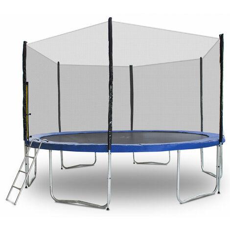 Trampolin 400 Outdoor Gartentrampolin Komplettset 4,00m 400 cm Modell 2019 mit extra verstärkten Rahmen