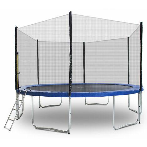 Trampolin 430 Outdoor Gartentrampolin Komplettset 4,30 m 430 cm Modell 2019 mit Extra verstärkten Rahmen