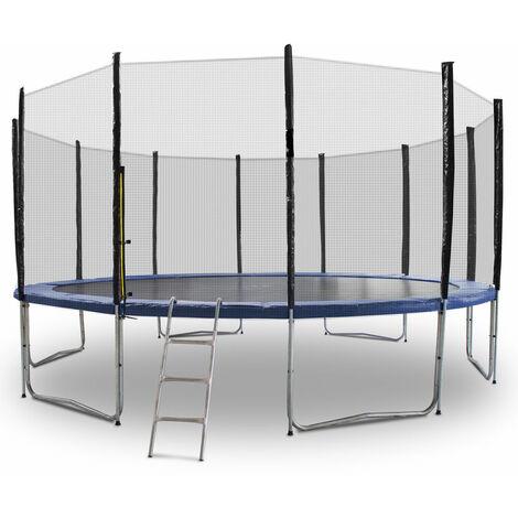 Trampolin 460 Outdoor Gartentrampolin Komplettset 4,60 m 460 cm Modell 2019 mit extra verstärkten Rahmen