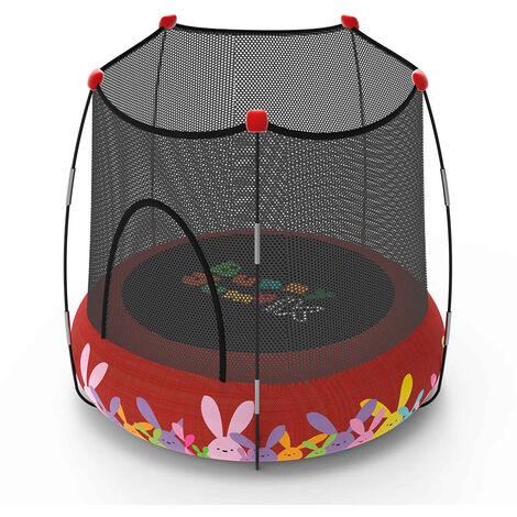 Trampolín Kohala 2 en 1 parque de juegos y cama elástica- Rojo