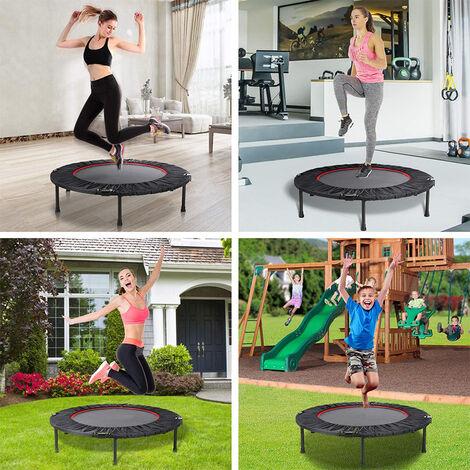 Trampolín para fitness trampolín de jardín trampolín para niños trampolín interior adecuado para saltar fitness e interior 102x25cm