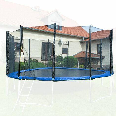 490cm Trampolin Sicherheitsnetz Ersatznetz Schutznetz ohne Pfosten für Tampoline 4,90m für 12 Pfosten Netzhöhe 180cm