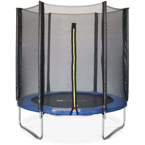Trampoline Ø180cm - Cassiopée bleu avec son filet de protection - Trampoline de jardin 2m