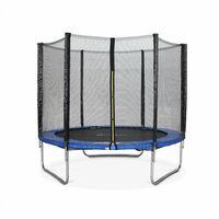 Trampoline Ø250cm - Pluton bleu avec son filet de protection - Trampoline de jardin 2,5m| Qualité PRO | Normes EU