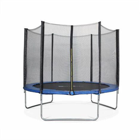 Trampoline Ø305cm - Mars bleu avec son filet de protection - Trampoline de jardin 3m 300 cm | Qualité PRO. | Normes EU.
