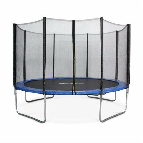 Trampoline Ø370cm - Saturne bleu avec son filet de protection - Trampoline de jardin 370 cm 3m | Qualité PRO|Normes EU
