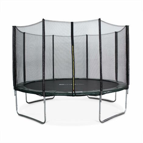 Trampoline Ø370cm - Saturne vert avec son filet de protection - Trampoline de jardin 370cm 3m| Qualité PRO. | Normes EU.