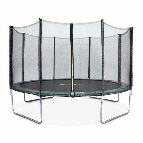 Trampoline Ø400cm - Mercure vert avec son filet de protection - Trampoline de jardin 400 cm 4m