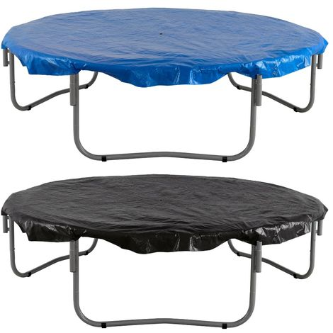 Trampoline Cover - Waterproof Cover for Weather, Wind, Rain & UV Protection of Round Trampolines of All Brands and Models - Black or Blue