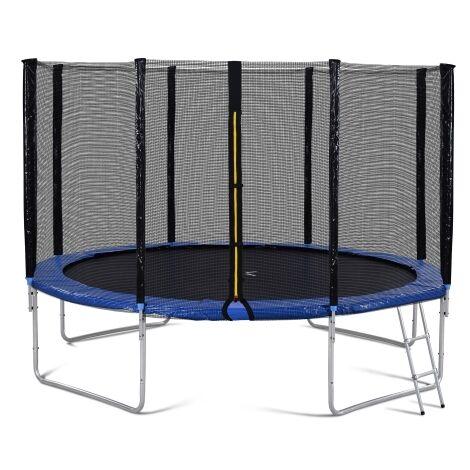 Trampoline d exterieur avec barriere de securite et echelle, trampoline de jardin 12FT pesant 150 kg, a passe le test GS et T?V