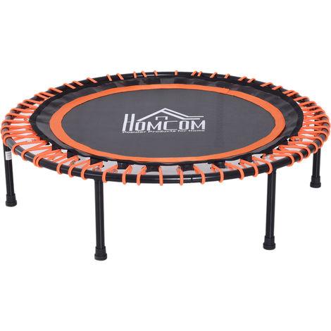 Trampoline de Fitness / gymnastique haute performance Ø 102 cm élastiques Bungee utilisation intérieure extérieure orange noir
