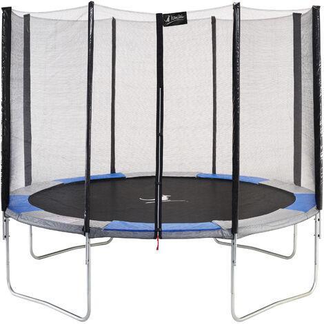 Trampoline de jardin Ø360cm rond avec filet de sécurité - RALLI 360