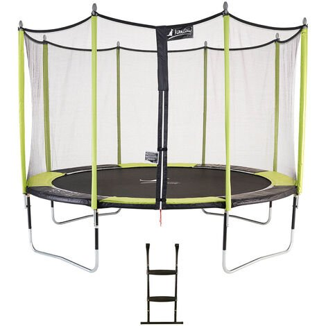 Trampoline de jardin 365 cm + filet de sécurité + échelle JUMPI POP 360