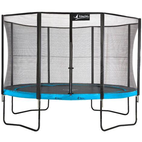 Trampoline de jardin 365 cm + filet de sécurité PUNCHI Bleu 360 - Bleu