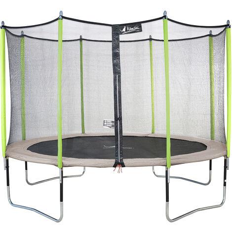 Trampoline de jardin avec filet JUMPI Beige - Ø 250 - 305 - 360 - 430 cm