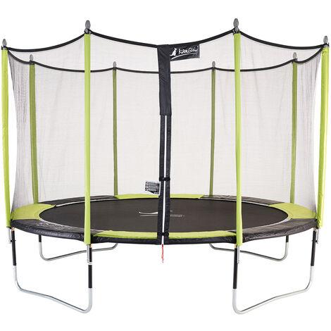 Trampoline de jardin avec filet JUMPI Vert - Ø 250 - 305 - 360 - 430 cm