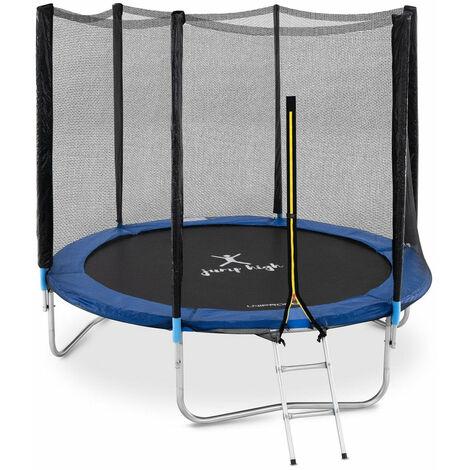 Trampoline de jardin d'extérieur et d'intérieur pour enfants adultes circulaire diamètre 240 cm filet