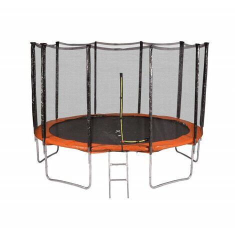 Trampoline de Jardin, diamètre 12FT / 366 cm avec Filet Exterieur - 10 perches, 4 Couleurs au choix
