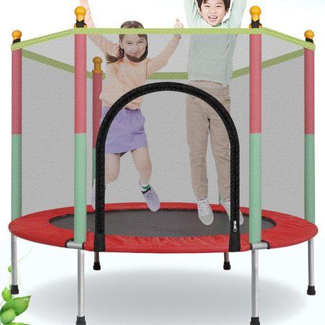 Trampoline de Jardin Enfant avec Filet de Securite Trampoline Juvénile