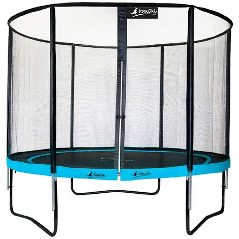 Trampoline de jardin rond 305 cm + filet de sécurité   PUNCHI Bleu 300 - Bleu
