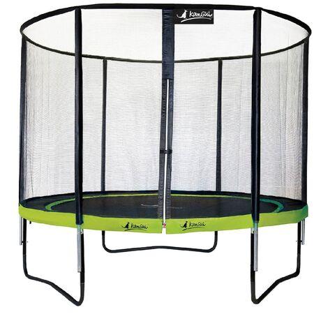 Trampoline de jardin rond 430 cm + filet de sécurité PUNCHI Vert 430 - Vert