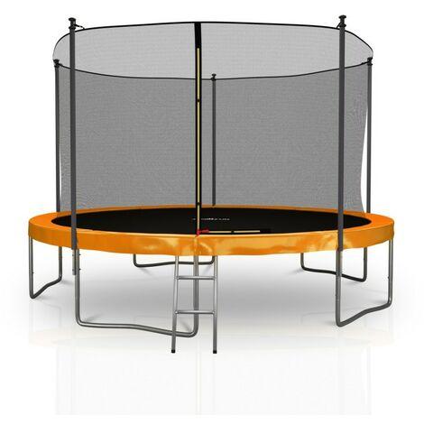 Trampoline extérieur 12FT 5 perches ø366 cm Classique Jump4Fun Choix couleurs
