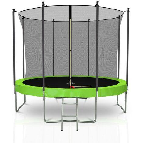 Trampoline extérieur Classique 10Ft / ø305cm KAIA SPORTS Pack trampoline de jardin avec Filet intérieur, mousse de protection, échelle et tapis de saut