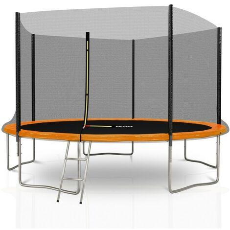 Trampoline extérieur Deluxe Jump4Fun 12Ft / ø366 cm - 5 Perches Choix couleurs