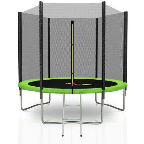 Trampoline extérieur Deluxe Jump4Fun 8Ft / ø244cm Choix couleurs