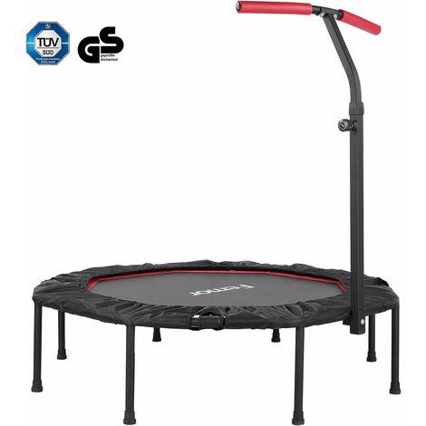 Trampoline Fitness Femor ,Pliable,Poignée Hauteurs Réglables, Capacité de Charge 150 kg,127cm, pour Intérieur, Jardin,Adulte et Enfant