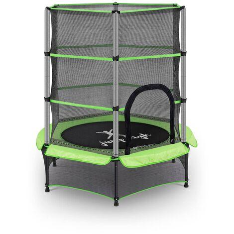 Trampoline Pour Enfants De Jardin D'Extérieur Et D'Intérieur Uniprodo Ø 140 cm Vert