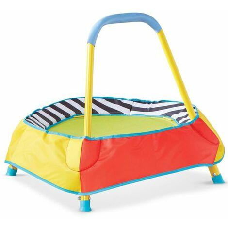 Trampoline pour enfants multicolore - Dim : H59.5 x L58 x P58 cm -PEGANE-
