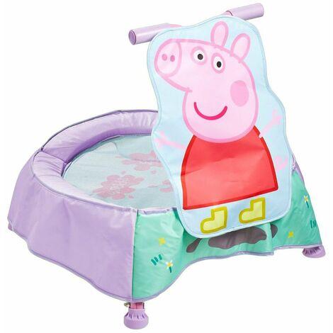 Trampoline pour tout-petits forme Peppa Pig - Dim : 56 x 60 x 60 cm -PEGANE-
