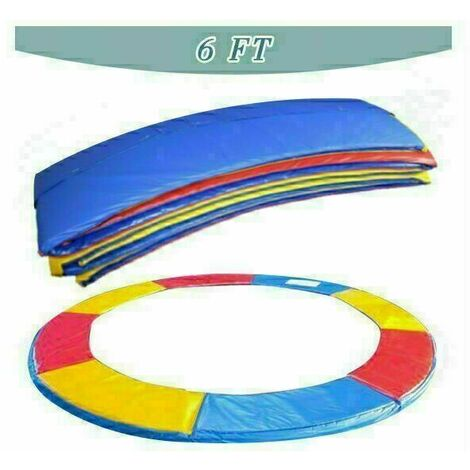 Trampoline Replacement Pad Safety Spring Cover Padding Multicolour - 6ft