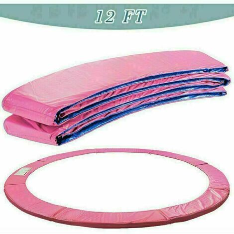 Trampoline Replacement Pad Safety Spring Cover Padding Pink- 12ft