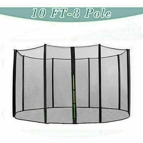 Trampoline Replacement Safety Net Enclosure Surround Netting - 10ft / 8 Pole