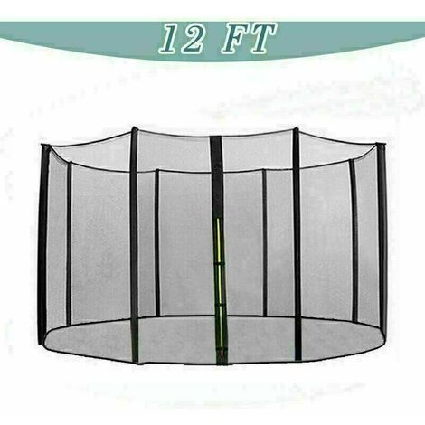Trampoline Replacement Safety Net Enclosure Surround Netting - 12ft