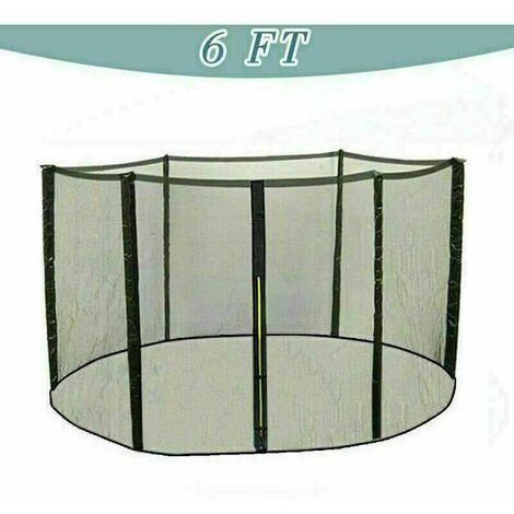 Trampoline Replacement Safety Net Enclosure Surround Netting - 6ft