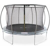 Trampoline rond Ø 370cm gris avec filet intérieur - Saturne Inner – trampoline 3,7m 370 cm