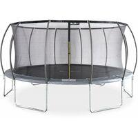 Trampoline rond Ø 490cm gris avec filet de protection intérieur - Jupiter Inner trampoline 4,90m 490 cm