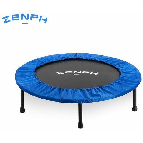 Trampoline rond pliable en sourdine Zenph Outil de divertissement d'interieur pour enfants, trampoline d'entrainement de stabilite pour adultes, 40 pouces, charge de 150 kg de Youpin, modele : noir et bleu 85
