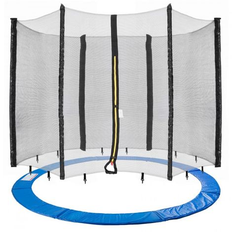 Trampoline safety net + edge cover edging edge protection net spare parts